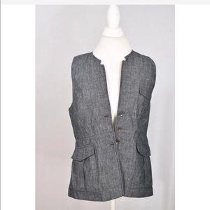 Rag & Bone Gray jean oversized vest